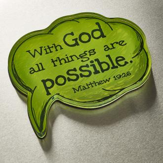 MGA 003 Magnet m/etui - With God All Things Are Possible